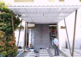 @4 canopy minimalis rangka tunggal atapnya alderon rs anti panas
