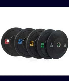 Dumbbell plates all available bench treadmill cycle cross trainer