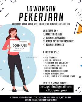 Open Recruitment Business Consultant