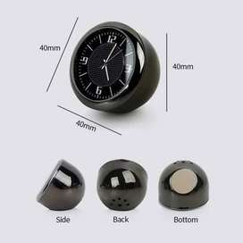 Jam Analog Interior Mobil Quartz Dashboard Classic Clock Solo Micro