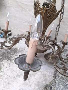 Lampu gantung antik asli itali