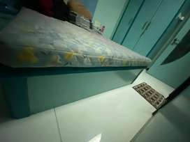 Furniture bed and mirror