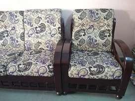 Wooden sofa dark brown colour