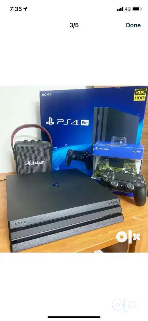 Sony Playstation ps4 pro 1tb with 2 controller