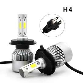 TaffLED Lampu Mobil LED COB Headlight 8000LM H4/HB3/9003 S2 Chip 2 Pcs