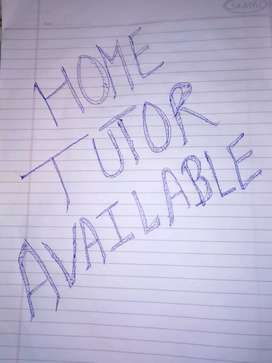Home tutor available