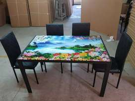 New designing dining table with 4 chairs