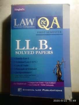 DU LLB 1st sem solved paper (singhal's)