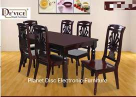 Meja Makan 6kursi Kayu Solid Dining Table