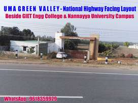 South -West Facing Plots Near GIET College.Rajahmundry