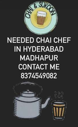 Job available Urgent needed chai chef