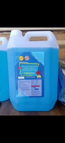 5 liter sanitiser available at 400/-