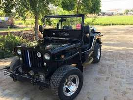 Full black ford open jeep