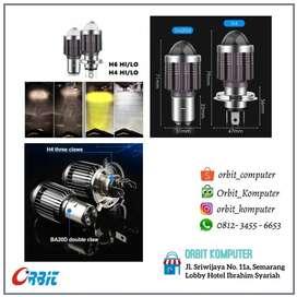 LAMPU LED LASER HEADLAMP D2 HIGH LOW H4 H6 BA20D 12-24V DUAL COLOR