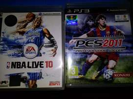 Kaset PS 3 ORIGINAL PES 2011 & NBA LIVE 2010