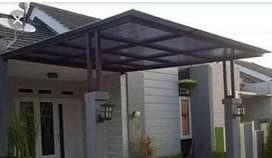 Canopy galvalum Alderon solarflat polycarbonat Solartuff Kaca jogja 1