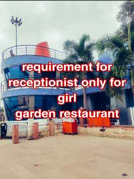 Garden restaurant receptionist and sell only for girl