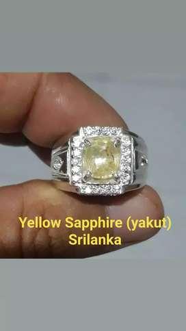 Natural Yellow Sapphire (yakut) Srilanka + Memo