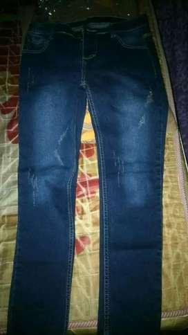 Celana jeans baru lepas bandrol