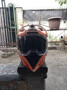 Helm Airoh Commander Carbon Orange