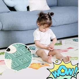 Tikar Foam Lipat XPE Premium Lokal 1 cm Playmat Baby Alas Bermain Anak