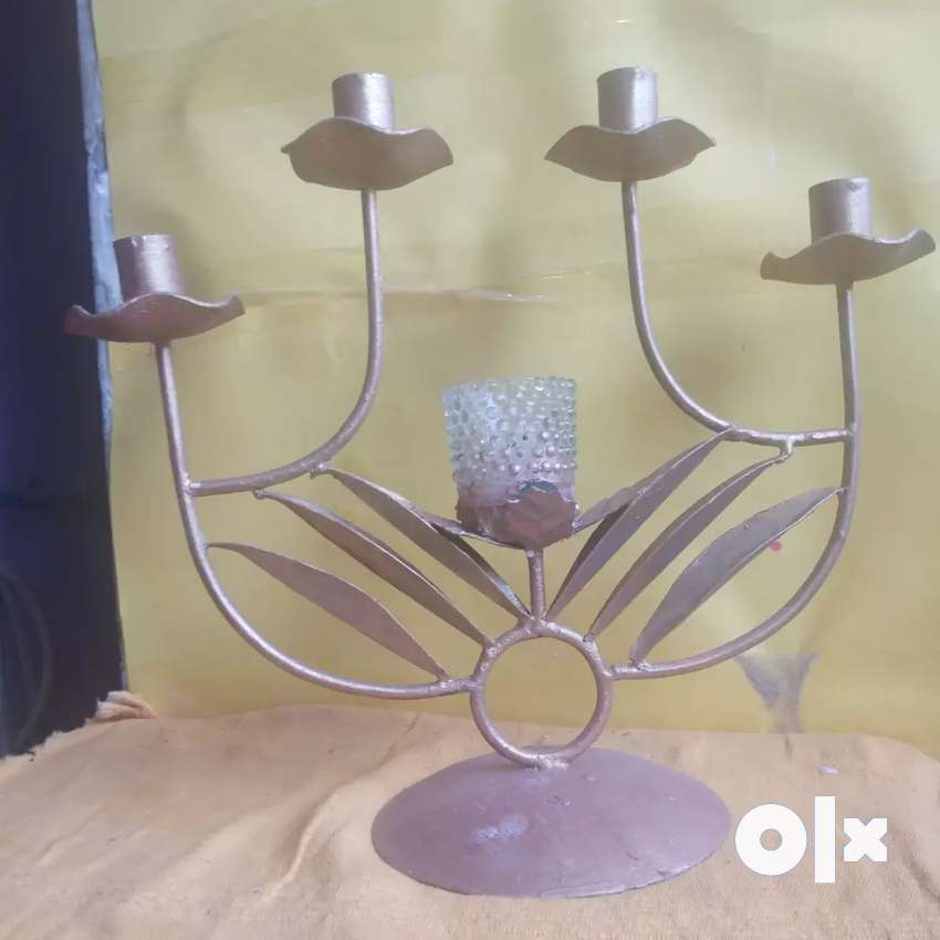 Golden Metal five in one candle stand 0