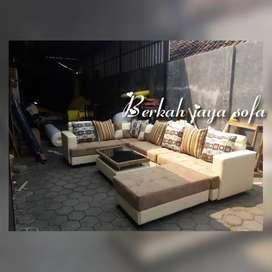 Sofa sudut u minimalis choklat