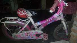 Sepeda anak perempuan, minus rante kendor and selalu lepas