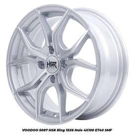velg racing VOODOO 5087 HSR R15X6 H4x100 ET40 SMF