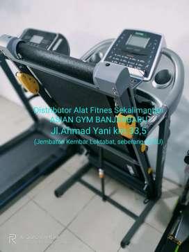 Ready treadmill elektrik 2hp manual incline, run area panjang