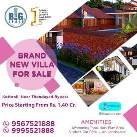 3 & 4 BHK Branded Luxury Villa for Sale near Thondayad.