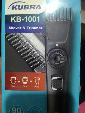 KUBRA shaver and trimmer (sealed pack)
