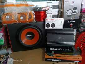 Plus Pemasangan,Audio Grosir Bass TOP, Subwoofer+Power+Tweeter+Box