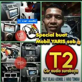 Mumer DVD 2DIN FOR YARIS 7INC ANDROIDLINK+CAMERA HD grosir surabaya