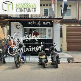 BOOTH SEMI CONTAINER / BOOTH CONTAINER USAHA / CONTAINER BOX KEDAI