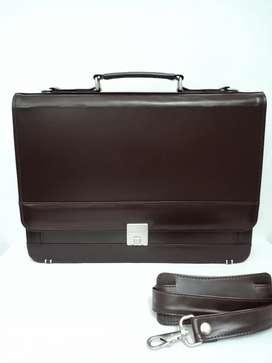 Leather Breifcase Bag for men office business bags with card pockets