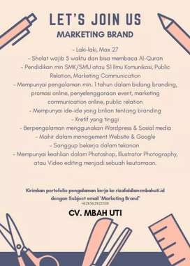 Lowongan Marketing Brand dan Staff Logistic di CV. Mbah Uti