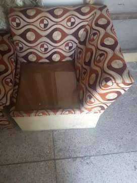 6 seater sofa, with table