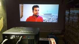 Intrex Wifi projector youtube led 3d 4K usb hdmi vga live tv 150 nhgj
