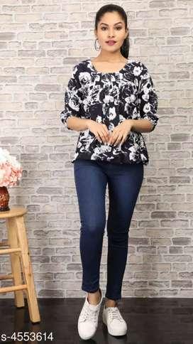 Women's Crepe Tops & Tunics