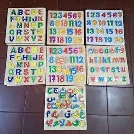 Puzzle Chunky Angka Huruf & Hijaiyah