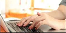 We are Provide Home Base Work Online Online Data Type work in Computer