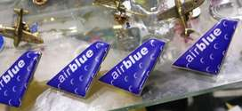 Airblue tail lapel pin