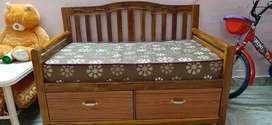 Teak wood Baby Bed cum SOFA
