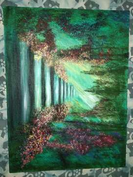 Acrylic colorful painting big one