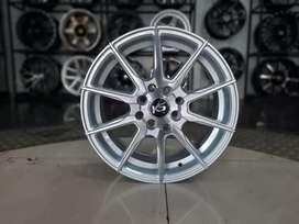 Velg murah ks doni r15x6.5 h4x100/114.3 et38 on agya March spin kia