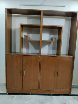 Wooden showcase cum shelf cum partition