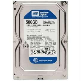 New Hard Disk Desktop Wd Blue.500Gb.1599/- Free COD.Limited Stock