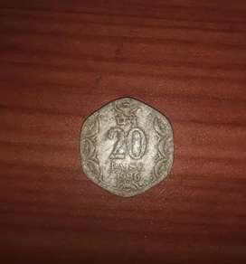 20 paise Old coin
