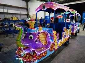 RST kereta motor gajah usaha wahana odong odong kereta panggung beko